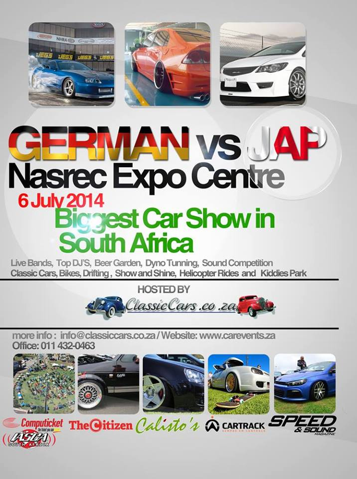 german vs jap car show nasrec expo centre. Black Bedroom Furniture Sets. Home Design Ideas